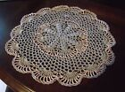 NEW HAND CROCHET DOILY Hemp  Peach 12 Round