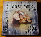 BILLY  THE KID GOAT MILK Rustic Country Wood Fence Kitchen Sign Farm Decor NEW