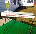 1950s BUBBLER DRAFT BALLANTINE PREMIUM BEER DBl SIDED LIGHTED BAR STAND SIGN