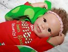 SANTAS FAVORITE Feel her breathe 19 Collectors Baby Girl Doll + 2 Outfits