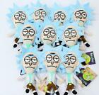 10pcs cartoon Rick And Morty mix PP cotton Plush pendant toy charms gifts r-01