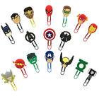 2pcs lot Avengers Paper Clips Bookmarks DIY Office School Clips Boys Xmas Gift