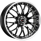 18x75 Black Drag DR19 Wheels 5x105 5x110 +42 Fits Saturn Astra L300 Sky
