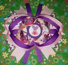 Sesame street Abby cadabby purple hair bow 5 5 1 2 Boutique hair bow girls