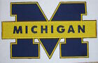 Large NCAA Michigan Wolverines BIG BLUE Jacket PatchMINT  Fast Shipping