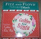 Fitz & Floyd Candy Christmas Cookies For Santa Plate NEW