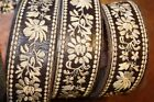 WIDE EMBROIDERED LEATHER HIPPIE STYLE BELT SIZE 33