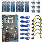6GPU Mining Motherboard+6Pcs PCI E Extender Riser Card For BTC Eth Rig Ethereum