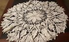 Vintage Hand Crocheted White Table Topper Magnificent Patterns Great Gift!