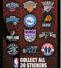NBA BASKETBALL LOGO STICKERS COMPLETE SET ALL 30 TEAMS FREE SHIPPING
