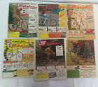 LOT of 42 1940s-1960s SCWINN bicycle ads~Jaguar, Black Phantom, Traveler,Varsity