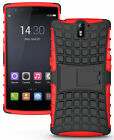 RED GRENADE GRIP RUGGED TPU SKIN HARD CASE COVER STAND FOR ONEPLUS ONE PHONE