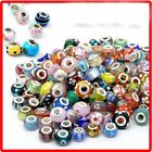 50Pcs Wholesale Lots Bulk Murano Glass Beaded Charms Spacer Beads For Bracelet