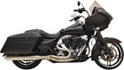 Bassani Polished Road Rage III Exhaust System for 95 16 Harley Touring FLHTC