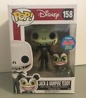 FUNKO POP Disney Nightmare #158 Jack & Vampire Teddy Vinyl Figures NY Comic Con