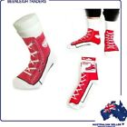 Silly Socks RED BASKETBALL BOOTS or SNEAKER Comfy Socks That Really Are Silly