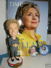 Hillary Clinton Bobble Head  magazine  pins limited edition 8 inch 1st run