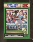 1989 Kenner SLU Starting Lineup Card JOSE CANSECO Oakland A's  (DC23)