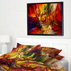 Designart 'Illusions of Stained Glass' Abstract Framed Canvas Artwork