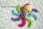 Handmade Amigurumi Preemie Buddy Baby Toy Stuffed Octopus Crochet 7 Girly