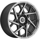20x9 Machined Black Mamba M20 Wheels 5x55 +18 Fits Dodge 1500 Durango