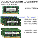 SAMSUNG 2 4GB DDR2 DDR3 667 800 1066 1333 1600MHZ Laptop SODIMM Memory Ram lot
