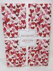 Valentines Day Pink Red Hearts Fabric Tablecloth Decor ALL SIZES