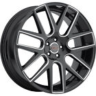 18x8 Black Milled Milanni Virtue Wheels 5x115 +38 Fits PONTIAC PRESTIGE AZTEK