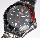 Wenger Swiss Military Watch- Model 79946- Water Resistant 200m- Red/ Black Bezel
