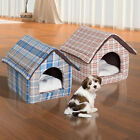 Plush Pet House Dog Cat Sleep Bed Cozy Warm Soft Cave w Removable Cushion Mat