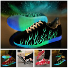 Unisex LED Light Lace Up Luminous Shoes Sportswear Sneaker Casual Fashion Shoes