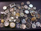 vintage 16 ounce lot of wristwatch movements parts pieces steampunk alt art ww4