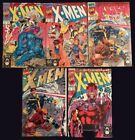 1991 X Men Issue  1 All 5 Covers Near Mint Condition Jim Lee Art