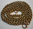 FINE VICTORIAN 15CT SOLID GOLD CHUNKY CABLE LINK CHAIN NECKLACE 13 GMS 20