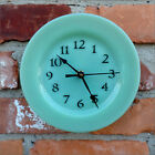 Fire King Green Jadeite Jadite Custom Made Restaurant Ware Plate Clock 6 3/4