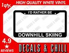 Id Rather Be Downhill Skiing Plate Frame