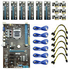 2018 Mining Motherboard 6GPU+6pcs PCI E Extender Riser Card For Crypto Miners