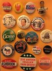 Interesting and Unique Lot of 18 Different Political Campaign Pin Buttons