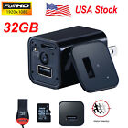 US Stock 32GB 1080p USB Spy Camera UX-8 AC Adapter USB Wall Charger Camcorder DV