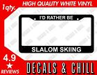 Id Rather Be Slalom Skiing Plate Frame