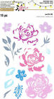 Rose Flower Layering Clear Stamp Set by Recollections 535918 NEW
