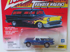 Custom Corvette Nomad Thunder Wagons Johnny Lightning Car Blue w Flames