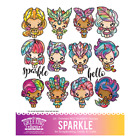 SPARKLE KIT The Greeting Farm Rubber Stamp Stamping Craft Magical Mermaid Bean