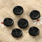 4 Holes Round Buttonss Black Resin 10mm Dia Sewing Scrapbooking DIY Crafts 100Pc