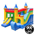 Commercial Bounce House 100 PVC Inflatable Castle King Jumper Slide w Blower