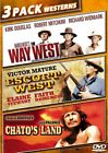 THE WAY WEST + ESCORT WEST + CHATOS LAND New 3 DVD Westerns Triple Feature