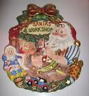 Fitz & Floyd Christmas Collectible Santa's Magic Workshop Hanging Plate