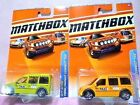 2010 Matchbox Ford Transit Connect Taxi Diecast Car Lot: Color Variations NIP