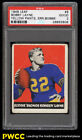 1948 Leaf Football Bobby Layne ROOKIE RC #6 PSA 2 GD (PWCC)