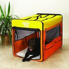 Guardian Gear Orange Yellow Large Collapsible Dog Crate